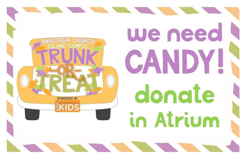 we need candy